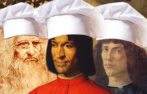 Lorenzo, Leonardo_ Sandro_cuochi
